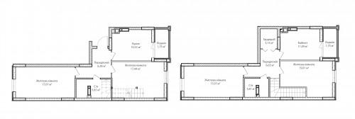 5-кімнатна 117.18м² номер - 65 зображення з ЖК Синергія Сіті