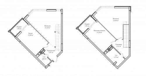 3-кімнатна 104.43м² номер - 69 зображення з ЖК Синергія Сіті