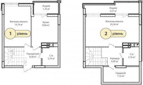 2-кімнатна 76.19м² номер - 70 зображення з ЖК Синергія Сіті