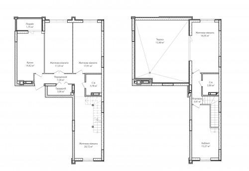 5-кімнатна 138.68м² номер - 71 зображення з ЖК Синергія Сіті