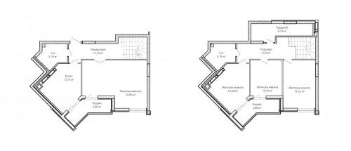 4-кімнатна 120.81м² номер - 72 зображення з ЖК Синергія Сіті
