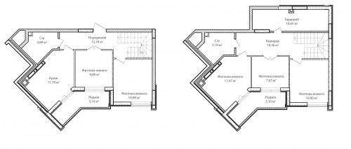 5-кімнатна 111.36м² номер - 80 зображення з ЖК Синергія Сіті