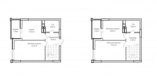 3-кімнатна 71.33м² номер - 73 зображення з ЖК Синергія Сіті