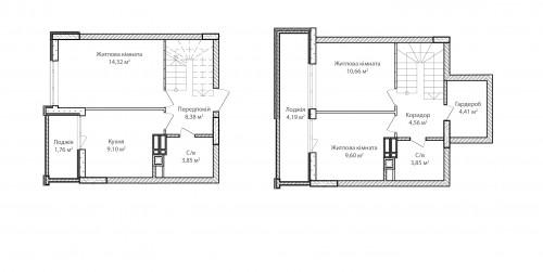 3-кімнатна 74.68м² номер - 74 зображення з ЖК Синергія Сіті