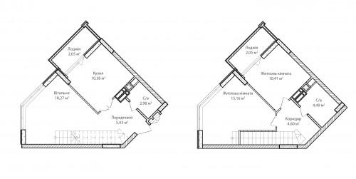 3-кімнатна 75.82м² номер - 75 зображення з ЖК Синергія Сіті