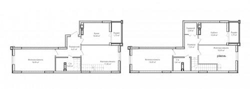 5-кімнатна 115.76м² номер - 72 зображення з ЖК Синергія Сіті