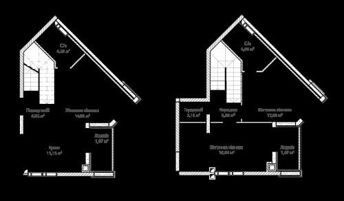 3-кімнатна 81.01м² номер - 64 зображення з ЖК Синергія Сіті