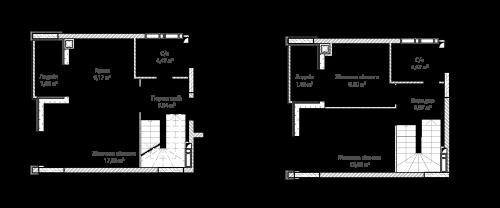 3-кімнатна 72.01м² номер - 66 зображення з ЖК Синергія Сіті