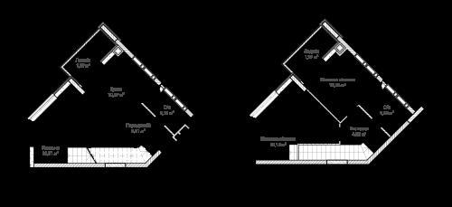 3-кімнатна 76.33м² номер - 68 зображення з ЖК Синергія Сіті
