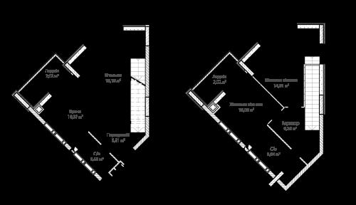 3-кімнатна 78.97м² номер - 69 зображення з ЖК Синергія Сіті