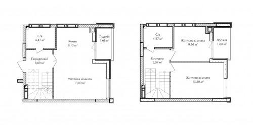 3-кімнатна 72.25м² номер - 78 зображення з ЖК Синергія Сіті
