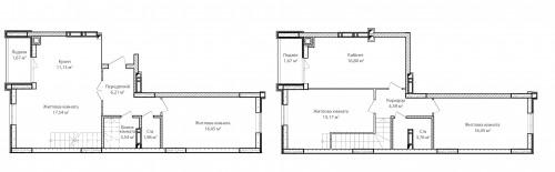 5-кімнатна 116.96м² номер - 79 зображення з ЖК Синергія Сіті