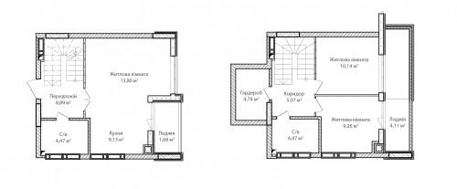3-кімнатна 75.76м² номер - 77 зображення з ЖК Синергія Сіті