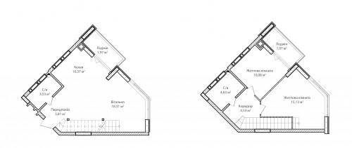 3-кімнатна 76.33м² номер - 76 зображення з ЖК Синергія Сіті