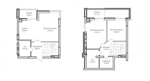 3-кімнатна 77.72м² номер - 74 зображення з ЖК Синергія Сіті