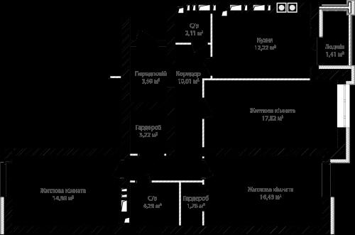 3-кімнатна 87.86м² номер - 8 зображення з ЖК Синергія Сіті