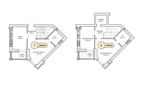 3-кімнатна 77.91м² номер - 64 зображення з ЖК Синергія Сіті