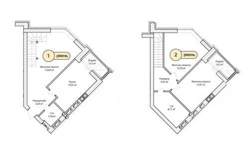 3-кімнатна 99.13м² номер - 68 зображення з ЖК Синергія Сіті