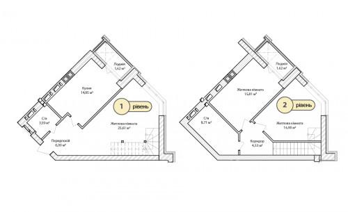 3-кімнатна 99.14м² номер - 69 зображення з ЖК Синергія Сіті