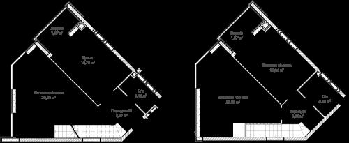 3-кімнатна 102.63м² номер - 68 зображення з ЖК Синергія Сіті