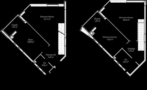 3-кімнатна 105.19м² номер - 69 зображення з ЖК Синергія Сіті