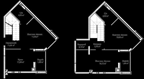 3-кімнатна 85.15м² номер - 64 зображення з ЖК Синергія Сіті