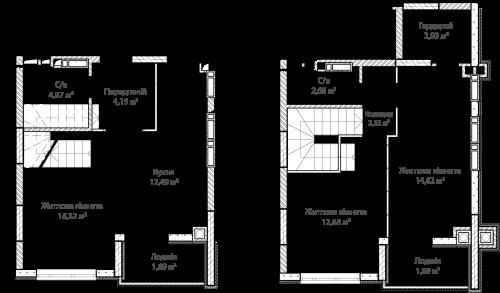 3-кімнатна 76.12м² номер - 60 зображення з ЖК Синергія Сіті