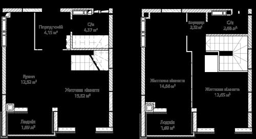 3-кімнатна 72.25м² номер - 61 зображення з ЖК Синергія Сіті