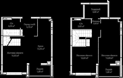 3-кімнатна 77.60м² номер - 62 зображення з ЖК Синергія Сіті