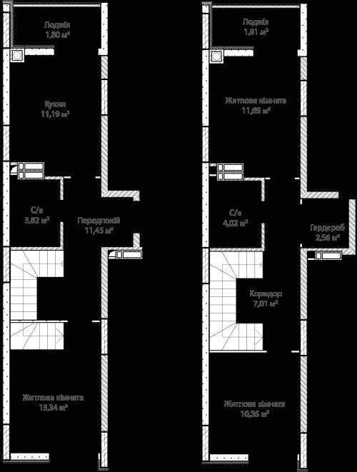 3-кімнатна 79.04м² номер - 63 зображення з ЖК Синергія Сіті
