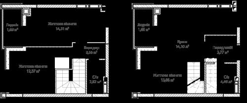 3-кімнатна 71.96м² номер - 66 зображення з ЖК Синергія Сіті