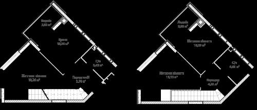 3-кімнатна 75.86м² номер - 68 зображення з ЖК Синергія Сіті