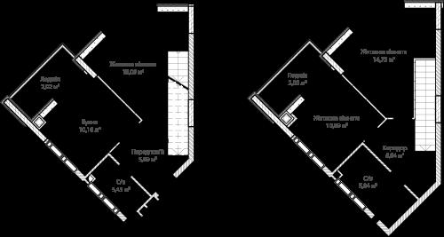3-кімнатна 78.21м² номер - 69 зображення з ЖК Синергія Сіті