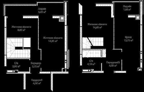 3-кімнатна 73.72м² номер - 70 зображення з ЖК Синергія Сіті