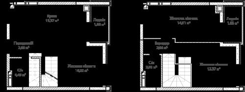 3-кімнатна 72.29м² номер - 70 зображення з ЖК Синергія Сіті