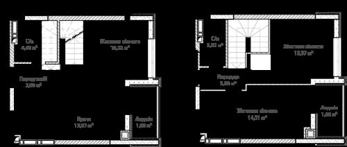 3-кімнатна 76.97м² номер - 69 зображення з ЖК Синергія Сіті