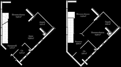 3-кімнатна 78.77м² номер - 67 зображення з ЖК Синергія Сіті