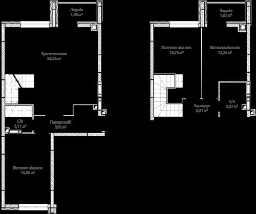 3-кімнатна 94.63м² номер - 51 зображення з ЖК Синергія Сіті