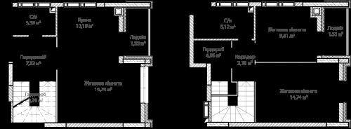 3-кімнатна 78.43м² номер - 55 зображення з ЖК Синергія Сіті